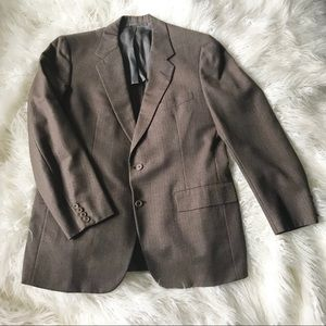 Hickey Freeman brown suit sports jacket